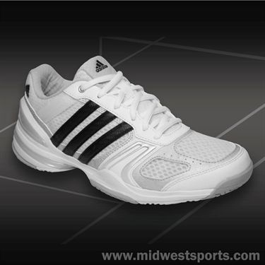 adidas Rally Court Womens Tennis Shoes-White/Black/Silver