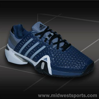 adidas Barricade 8+ Mens Tennis Shoe-Blue/Silver/Black