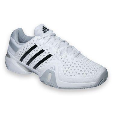 adidas Barricade 8+ Mens Tennis Shoe-White/Black/Onix