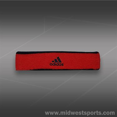 adidas Tennis Headband- Bold Orange/Black