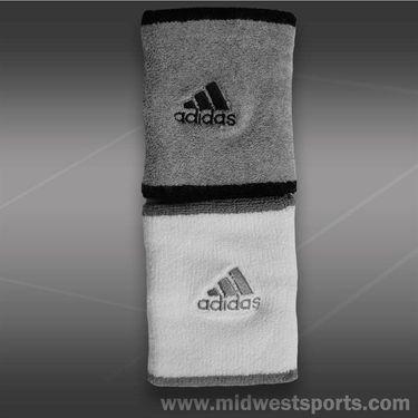 adidas Tennis Wristband Doublewide- Medium Grey/Black