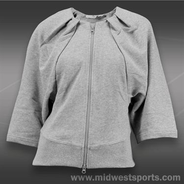 adidas Stella McCartney Zip Sweater-Medium Grey Heather