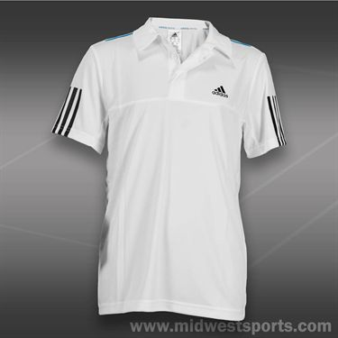 adidas Boys Response Traditional Polo- White, M62025