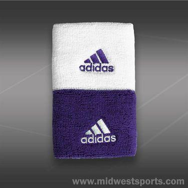 adidas Tennis Wristband Singlewide-White/Power Purple