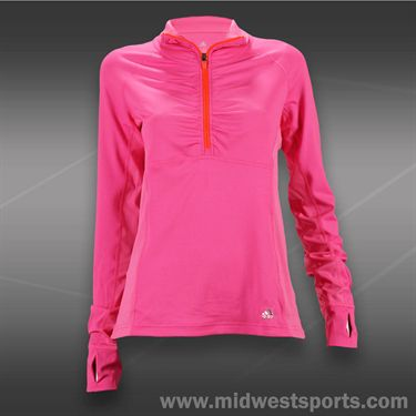 adidas Ultimate 1/2 Zip Top-Solar Pink