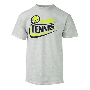 Pure Tennis T-Shirt with Ball - Ash Grey