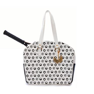 Cortiglia Marion White Royal Tennis Bag