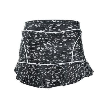 Adedge Split Hem Tennis Skirt - Spec Print/Lime Green