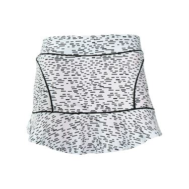 Adedge Split Hem Tennis Skirt - Spec Print/Neon Coral