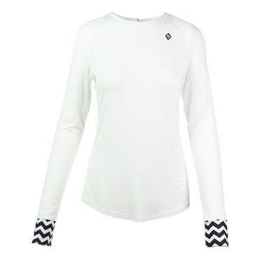 Adedge Long Sleeve Top - White/Print