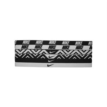 Nike Printed Headbands Assorted 6 Pack-Black/White