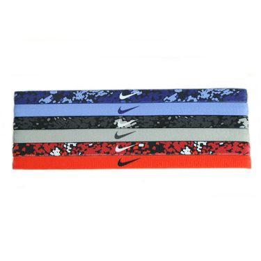 Nike Printed Headbands Assorted 6 Pack - Obsidian/Chalk Blue/Black