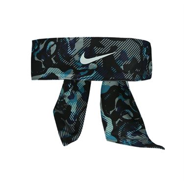 Nike Printed Dri Fit Head Tie 2.0 - Black/Blustery/White