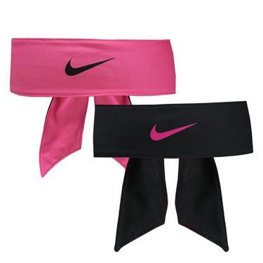 Nike Dri Fit Reversible Head Tie - Vivid Pink/Black