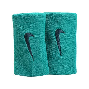 Nike Tennis Premier Doublewide Wristband - Rio Teal/Midnight Turquoise