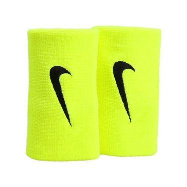 Nike Tennis Premier Doublewide Wristband - Volt/Black