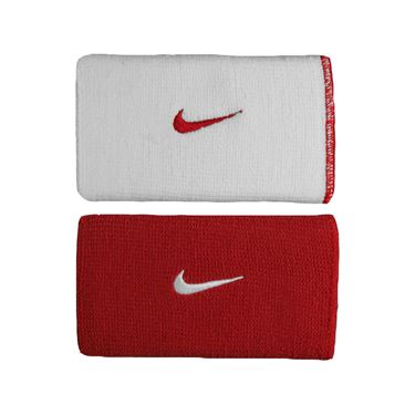 Nike Dri Fit Home and Away Doublewide Wristband-Varsity Red
