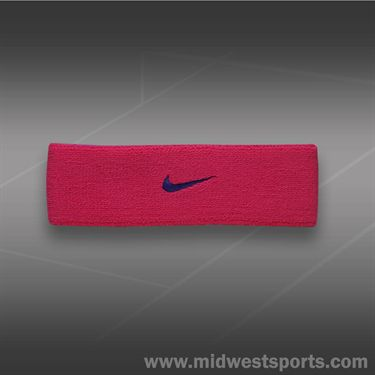 Nike Dri Fit Home and Away Headband-Vivid Pink