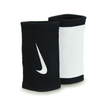 Nike Dri Fit Stealth Doublewide Wristband - Black/White