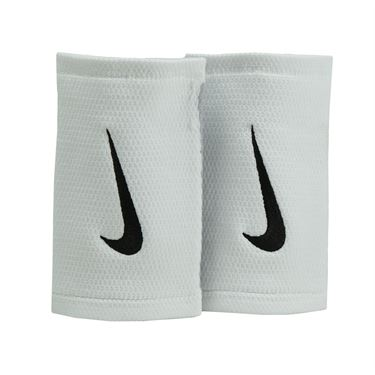 Nike Stealth Doublewide Wristbands - White/Wolf Grey