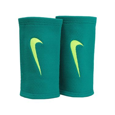 Nike Dri Fit Stealth Doublewide Wristband - Rio Teal/Volt/Midnight Turquoise