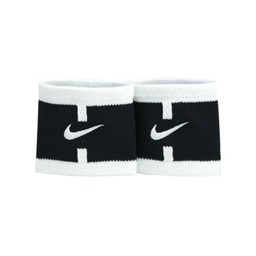 Nike Court Logo Wristbands - Black/White
