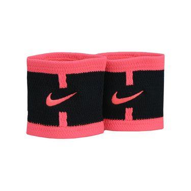 Nike Court Logo Wristbands - Black/Hot Punch