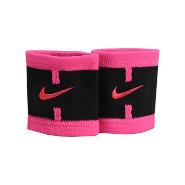 Nike Dri Fit Court Logo Wristband - Black/Hyper Pink