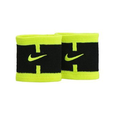 Nike Dri Fit Court Logo Wristband - Black/Volt