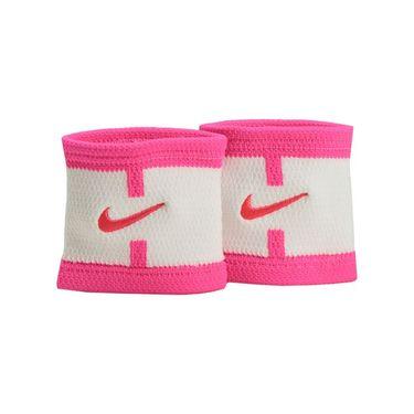 Nike Dri Fit Court Logo Wristband - White/Hyper Pink