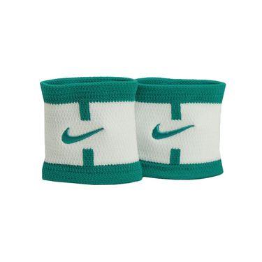 Nike Dri Fit Court Logo Wristband - White/Rio Teal