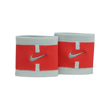 Nike Court Logo Wristbands - Action Red/Pure Platinum