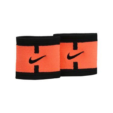 Nike Dri Fit Court Logo Wristband - Bright Mango/Black