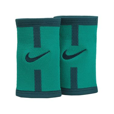 Nike Dri Fit Court Logo Doublewide Wristband - Rio Teal/Midnight Turquoise