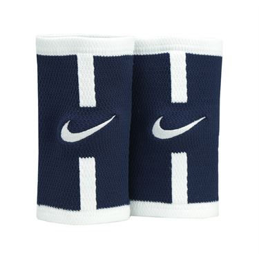 Nike Court Logo Doublewide Wristbands - Midnight Navy/White