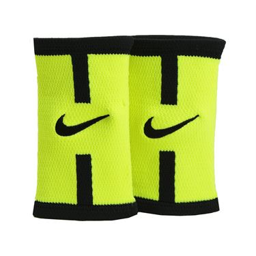 Nike Dri Fit Court Logo Doublewide Wristband - Volt/Black