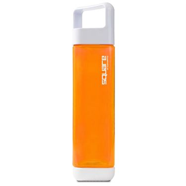 Square Plastic 25oz Water Bottle - Orange