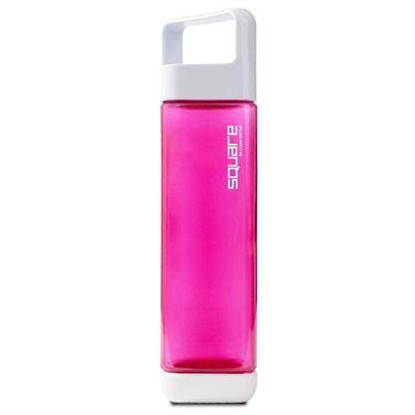 Square Plastic 25oz Water Bottle - Raspberry
