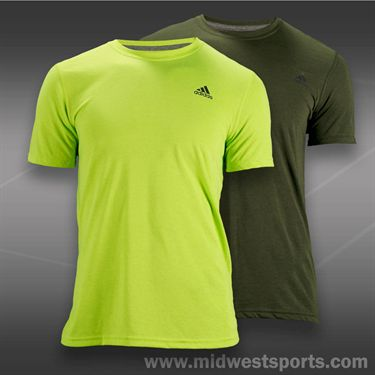 adidas Ultimate Short Sleeve Crew-Solar Slime