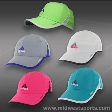 adidas Womens adizero II Cap-White/Heather Grey/Solar Pink/Vivid Mint