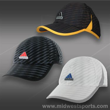 adidas Mens adizero Shockwave Hat-Black/Bold Onix/Solar Red