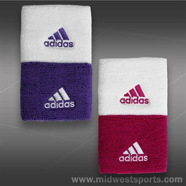 adidas Tennis Wristband Singlewide- White/Bold Pink