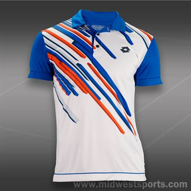Lotto Slade Polo-Maldive Blue/White