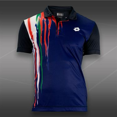 Lotto Cast Tennis Polo-Navy Blue