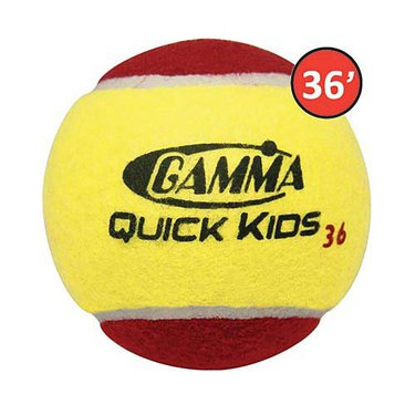 Gamma Quick Kids 36 Tennis Balls 3 Pack