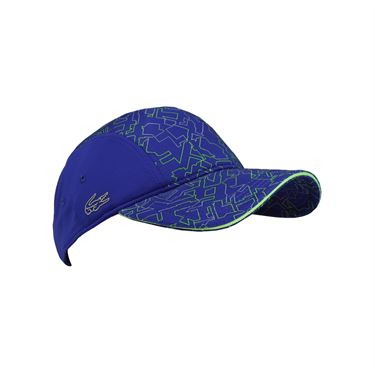 Lacoste Performance Printed Panel Hat - France Blue/Fluo Green/Black