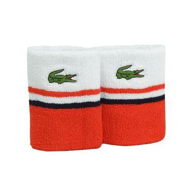 Lacoste Sport Stripe Wristband - White/Lust Red
