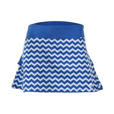 AdEdge Back Pleated Woven Skirt - Royal Blue