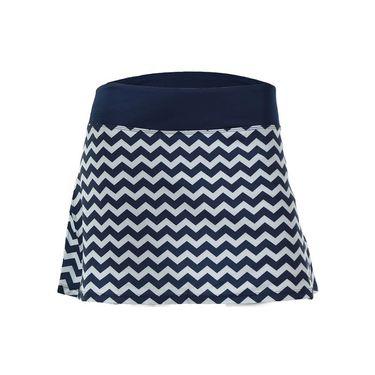 AdEdge Back Pleated Woven Skirt - Navy Blue