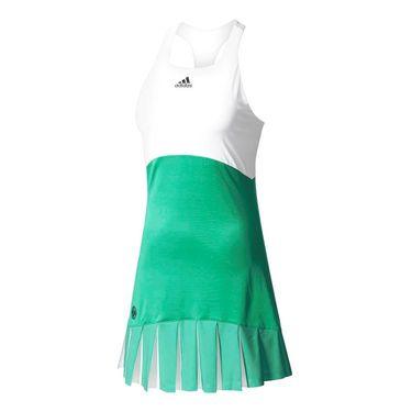 adidas Roland Garros On Court Dress - Core Green/White